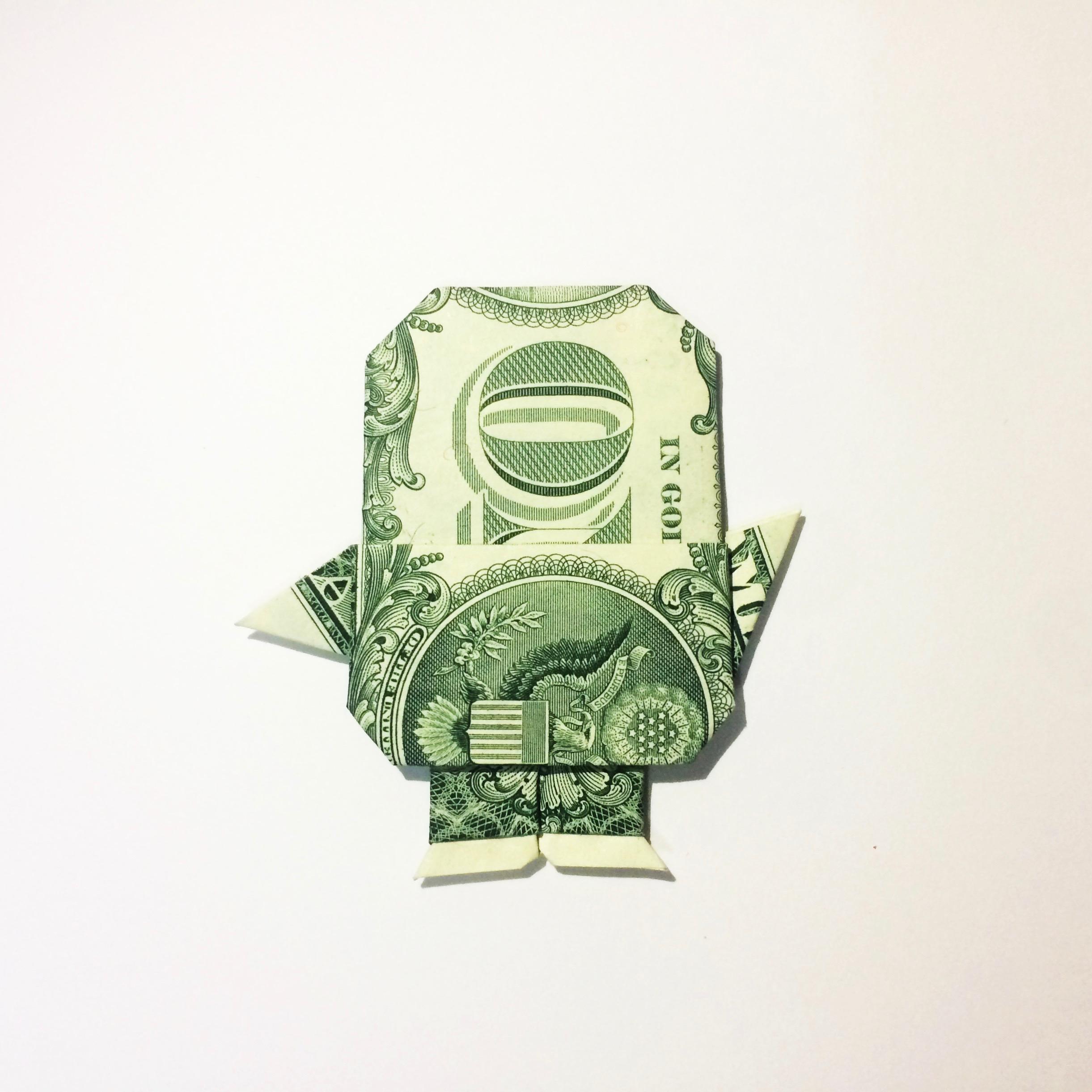 Origami Dollar Bill Design Minion Ryan Dong
